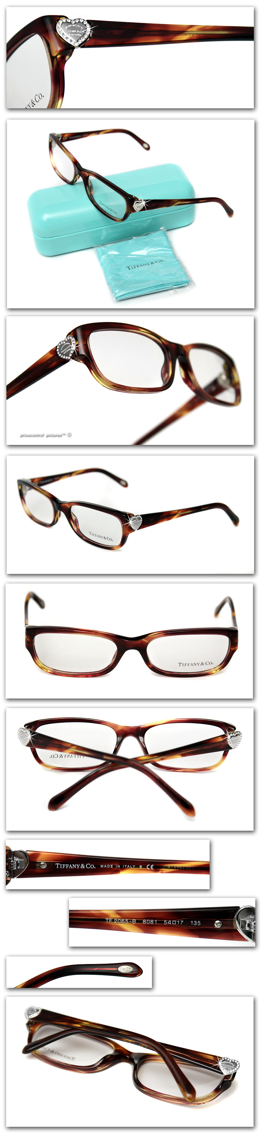 Tiffany Eyeglass Frames With Crystals : USD490 TIFFANY & Co. Ladies DIAMOND CRYSTAL HEART GLASSES eBay