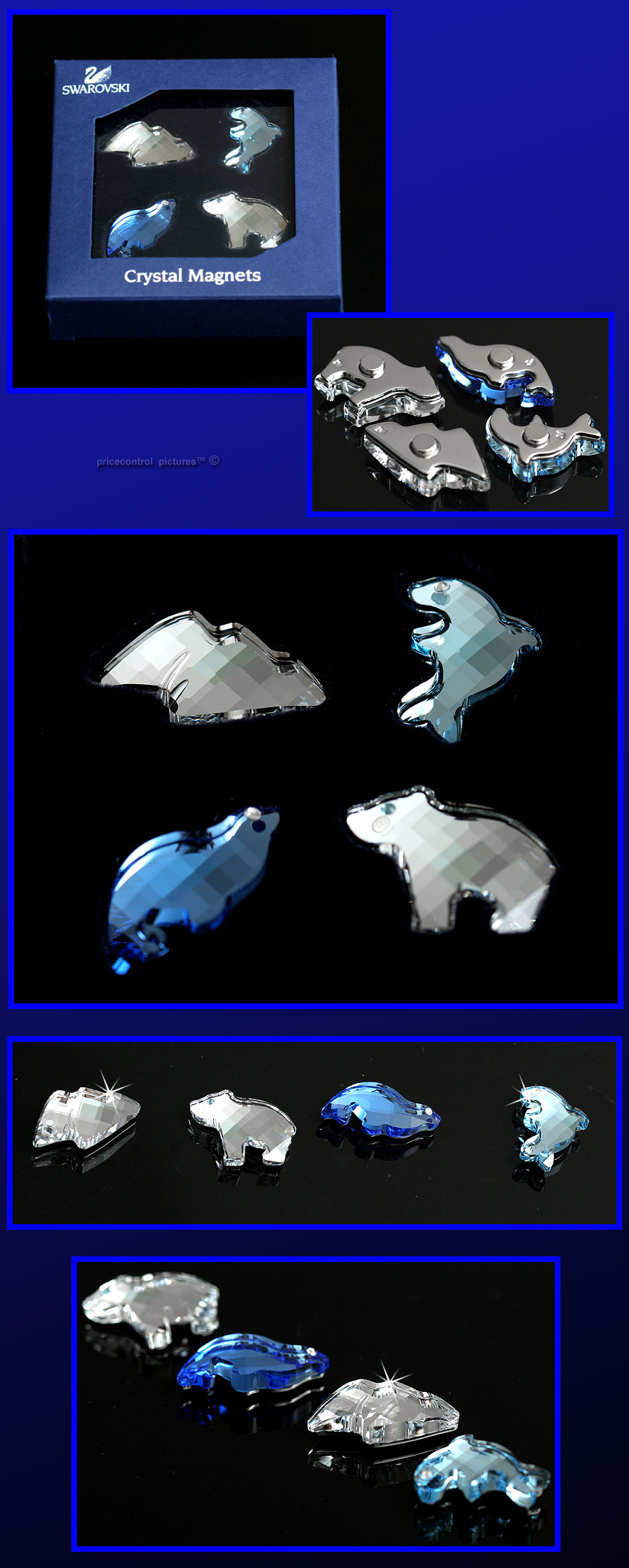 Swarovski Fish Figurines